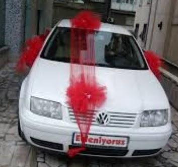 ucuz çiçek gönder  çiçeksiz gelin arabası süslemesi
