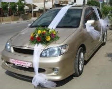 Ankara Polatlı çiçek yolla  sade gelin arabası süslemesi