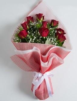 9 adet kırmızı gülden buket  Polatlı çiçek satışı