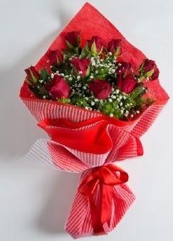 11 adet kırmızı gülden buket  Ankara Polatlı online çiçek gönderme sipariş
