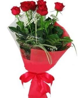 5 adet kırmızı gülden buket  Ankara Polatlı Ankara kaliteli taze ve ucuz çiçekler