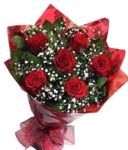 6 adet kırmızı gülden buket  Polatlı yurtiçi ve yurtdışı çiçek siparişi