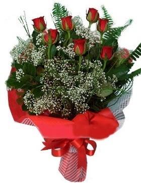 7 kırmızı gül buketi  Polatlıdaki çiçekçiler çiçek servisi , çiçekçi adresleri