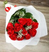 9 kırmızı gülden buket çiçeği  Polatlıda çiçek firması çiçek gönderme