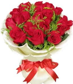 19 adet kırmızı gülden buket tanzimi  Polatlıdaki çiçekçiler çiçek servisi , çiçekçi adresleri