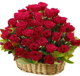 41 adet kırmızı gül sepet içerisinde  Polatlı çiçek online çiçek siparişi