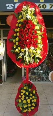 Çift katlı düğün açılış çiçek modeli  Polatlıdaki çiçekçiler çiçek servisi , çiçekçi adresleri