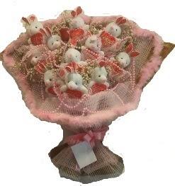 12 adet tavşan buketi  Polatlıya çiçek çiçek mağazası , çiçekçi adresleri