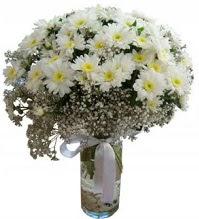 Vazoda beyaz papatyalar  Polatlı yurtiçi ve yurtdışı çiçek siparişi