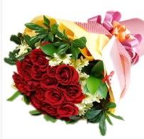 12 adet kırmızı gül ve papatyalar  Polatlı anneler günü çiçek yolla
