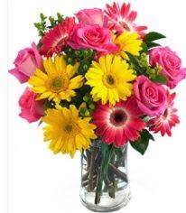 Vazoda Karışık mevsim çiçeği  çiçekçi mağazası