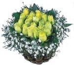 Polatlı internetten çiçek satışı  Sari harika bir gül sepeti