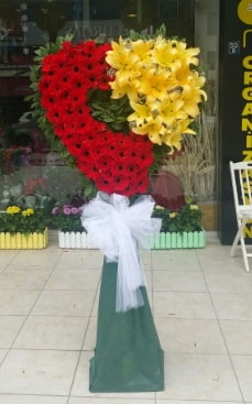 Yasin model ferförje kalp çiçek modeli  Ankara Polatlı çiçek yolla