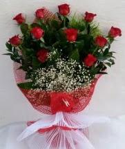 11 adet kırmızı gülden görsel çiçek  Polatlı çiçek satışı