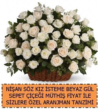 Söz nişan kız isteme çiçeği 33 beyaz gül  Polatlı çiçek gönderme sitemiz güvenlidir