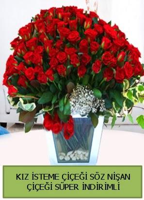 Söz nişan kız isteme çiçeği 71 gülden  Ankara Polatlı İnternetten çiçek siparişi