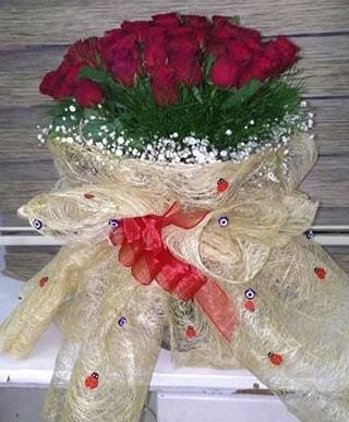 41 adet kırmızı gülden kız isteme buketi  Polatlı internetten çiçek satışı