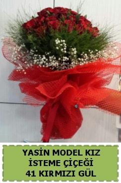 41 Adet kırmızı gül kız isteme çiçeği  Polatlı çiçek gönderme sitemiz güvenlidir