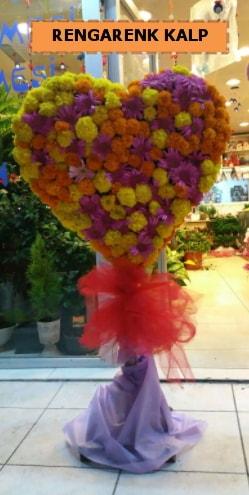 Ankara mevsim çiçeklerinden kalp perförje  Polatlıya çiçek Ankara çiçekçi telefonları