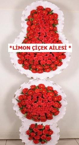 3 katlı kırmızı düğün açılış çiçeği  Polatlıda çiçek firması çiçek gönderme