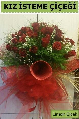 41 adet kırmızı gülden kız isteme buketi  Polatlı çiçek satışı