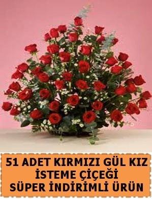 51 Adet kırmızı gülden kız isteme çiçeği  Polatlı internetten çiçek satışı