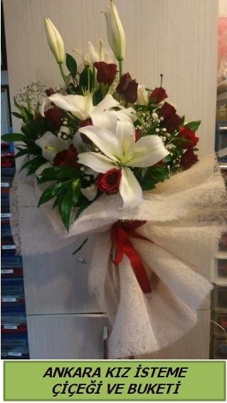 Kız isteme buketi çiçeği modelleri  Ankara Polatlı çiçek yolla
