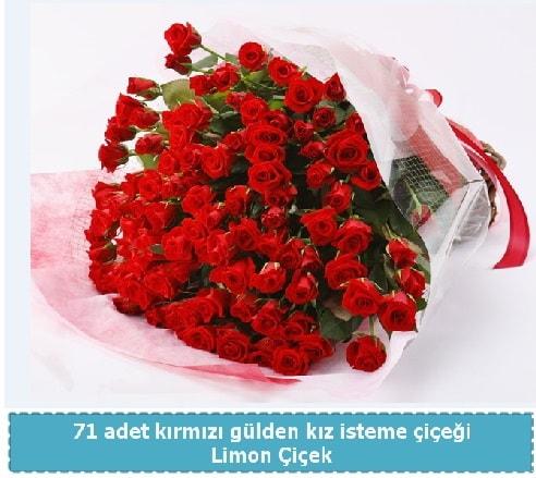 41 adet kırmızı gül kız isteme buketi  Polatlıya çiçek Ankara çiçekçi telefonları