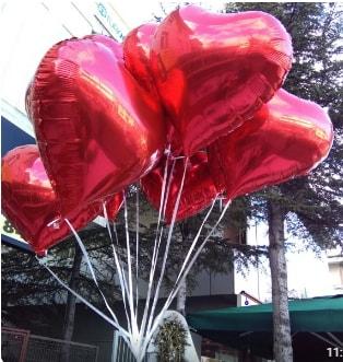 8 adet folyo kalp uçan balon  ucuz çiçek gönder