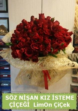 51 adet güllü Söz nişan kız isteme çiçeği  ucuz çiçek gönder
