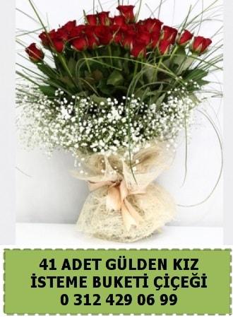 41 kırmızı gülden kız isteme çiçeği buketi  Polatlı çiçek gönderme sitemiz güvenlidir w