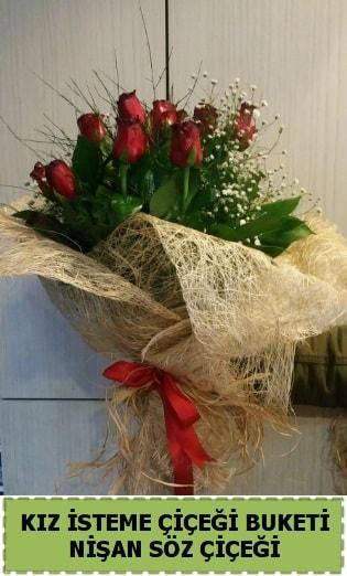 19 adet gülden kız isteme nişan çiçeği  Polatlı internetten çiçek satışı