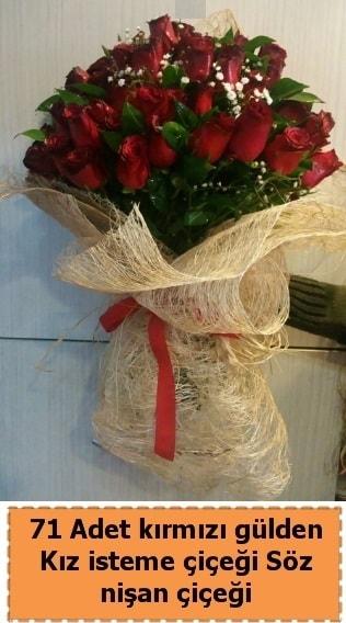 71 adet kırmızı gül söz nişan çiçeği  Polatlı çiçek satışı