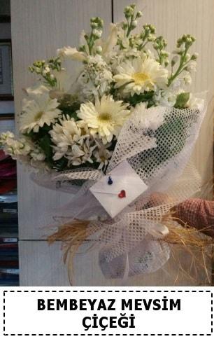 Bembeyaz görsel mevsim çiçek buketi  Ankara Polatlı çiçek yolla