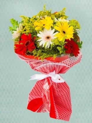 Karışık Gelbera Buketi çiçek siparişi sitesi
