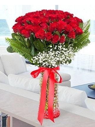 Vazoda 41 kırmızı Gül (Maşallah)  Polatlıdaki çiçekçiler