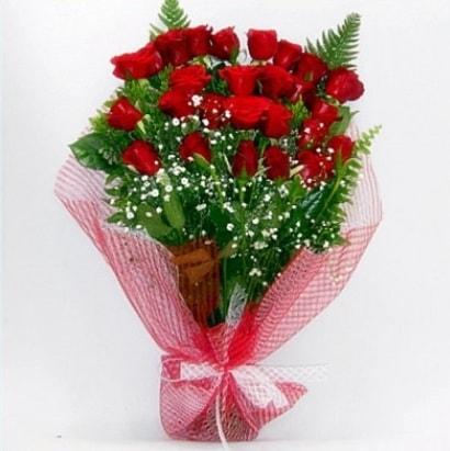 Kız isteme buketi çiçeği sade 29 adet gül  Polatlıya çiçek Ankara çiçekçi telefonları