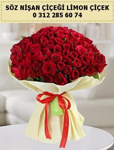 51 adet kırmızı gül söz nişan buketi çiçeği çiçek siparişi sitesi