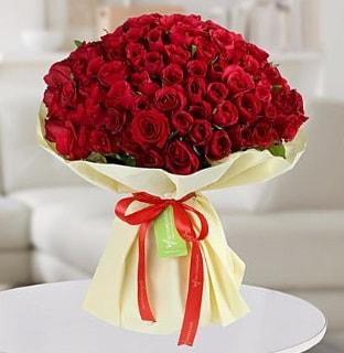 101 adet kırmızı gül buketi koca demet  internetten çiçek siparişi