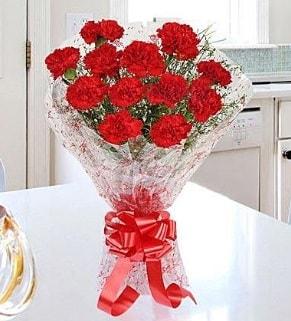 12 adet kırmızı karanfil buketi  Ankara Polatlı İnternetten çiçek siparişi