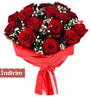 12 Adet kırmızı aşk gülleri  Polatlı çiçek satışı