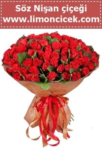 Kız isteme söz nişan çiçeği 101 gül  Polatlı çiçek gönderme sitemiz güvenlidir