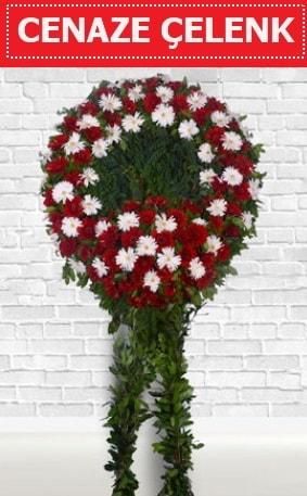 Kırmızı Beyaz Çelenk Cenaze çiçeği  Ankara Polatlı İnternetten çiçek siparişi