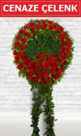 Kırmızı Çelenk Cenaze çiçeği  Ankara Polatlı İnternetten çiçek siparişi