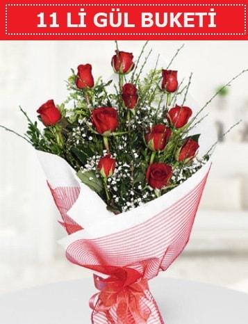 11 adet kırmızı gül buketi Aşk budur  Polatlı çiçek gönderme sitemiz güvenlidir