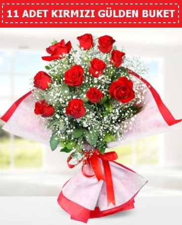 11 Adet Kırmızı Gül Buketi  internetten çiçek siparişi