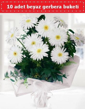 10 Adet beyaz gerbera buketi  Polatlı Ankara çiçek , çiçekçi , çiçekçilik