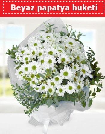 Beyaz Papatya Buketi  14 şubat sevgililer günü çiçek