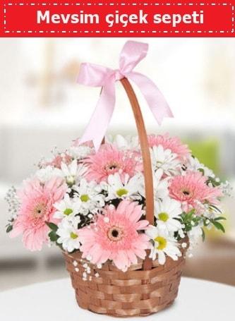 Mevsim kır çiçek sepeti  Polatlı Ankara çiçek , çiçekçi , çiçekçilik