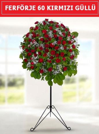 60 Adet kırmızı gülden ferförje  ucuz çiçek gönder
